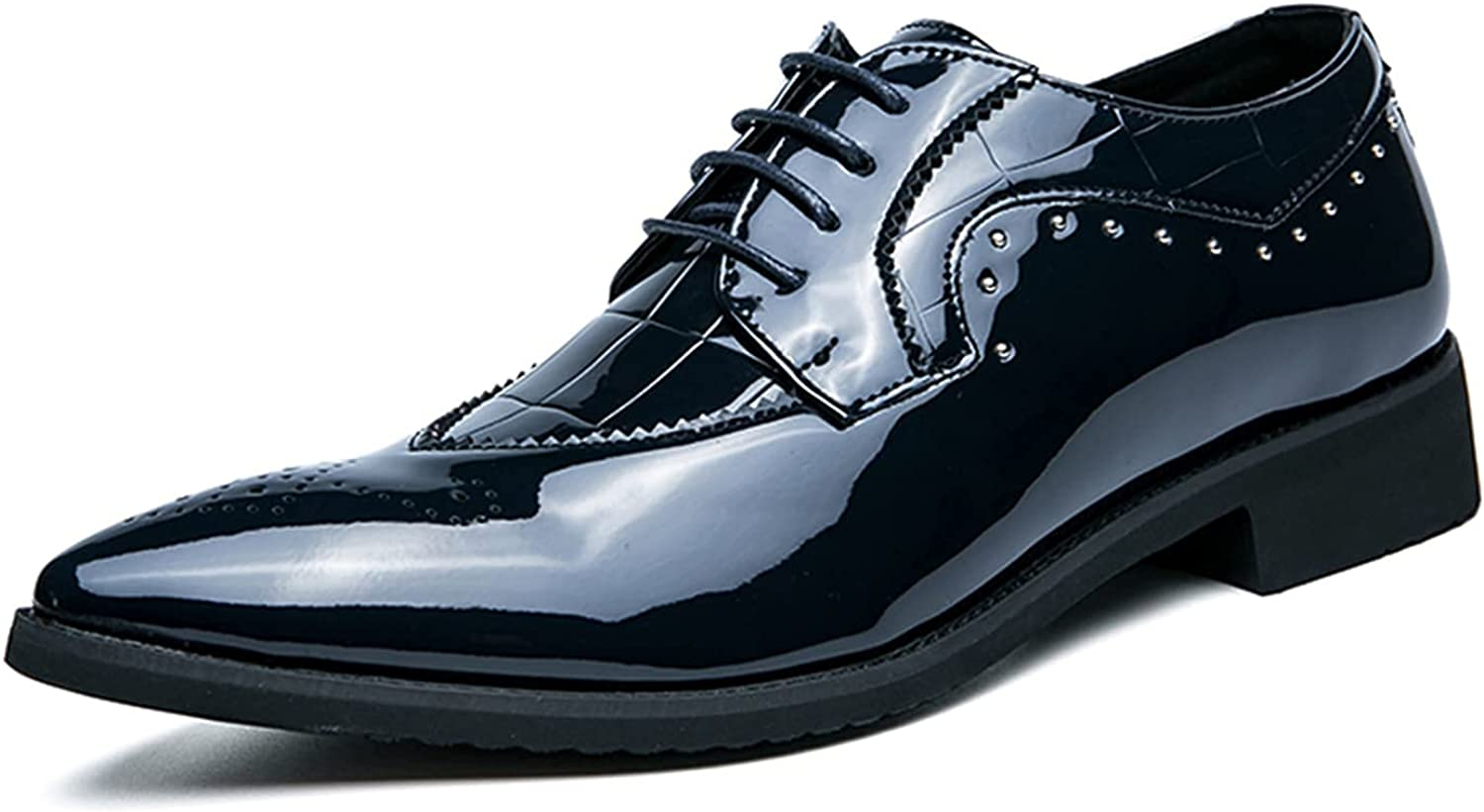 Men's Leather Shoes Breathable Comfy Business Shoes Casual Dating Shoes for Men