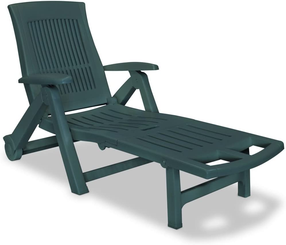 Festnight Outdoor Patio Chaise Lounge Chair Wheels Max 41% OFF Product and with Armr