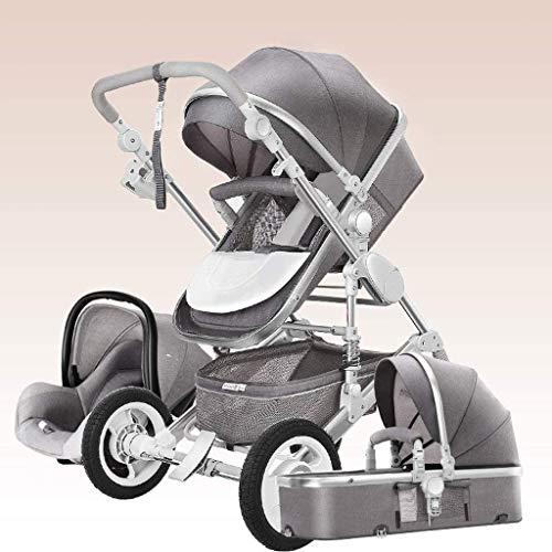YZPTD 3 en 1 Sistema de Viaje Cochecito de bebé, arnés de 5 Puntos y Canasta de Alto Almacenamiento, Cochecito de Cochecito, Silla para bebés y recién Nacidos (Color : C)
