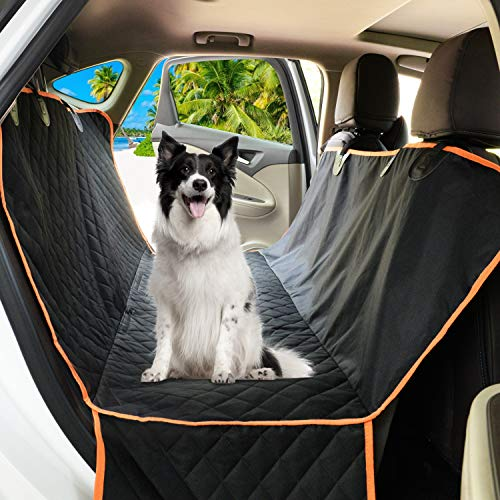 Dog Car Seat Cover Waterproof Back Seat Cover for Pets Non-Slip Hammock Against Pet Scratch Dirt and Fur Durable Protector for Car, Truck & SUV