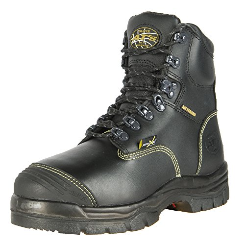 """Oliver 55 Series 6"""" Leather Steel Toe Puncture-Resistant Men's Metatarsal Boots, Black (55246)"""