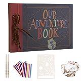 AIOR Álbum de Fotos Autoadhesivo, Our Adventure Book Album Scrapbook, Vintage DIY Álbum de Recortes ...