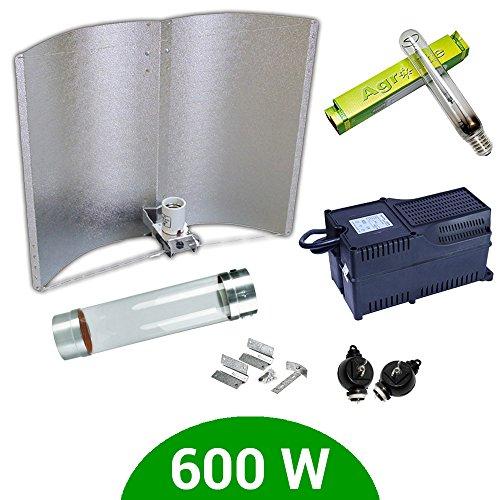 Kit de iluminación 600W SHP Agrolite + Balastro Agrolite clase 2 + Cooltube + Reflector Adjust-a-Wings Enforcer