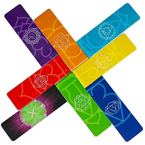 LANGE LESEZEICHEN Chakra Magnetische Lesezeichen (auf Englisch) Länger Premium Qualität Schöne Wunderschönen Mandalas Farbenfroh Bildungs Informationen über Chakren auf Karte