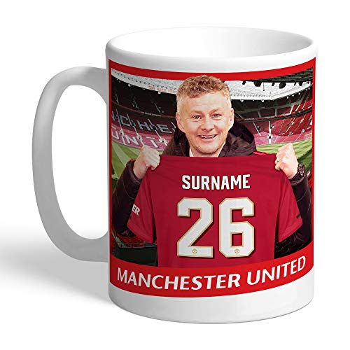 Offizielle personalisierbare Manchester United FC Manager Tasse