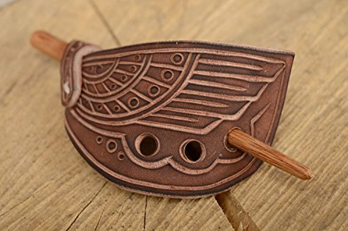 Genuine Leather Hairpin