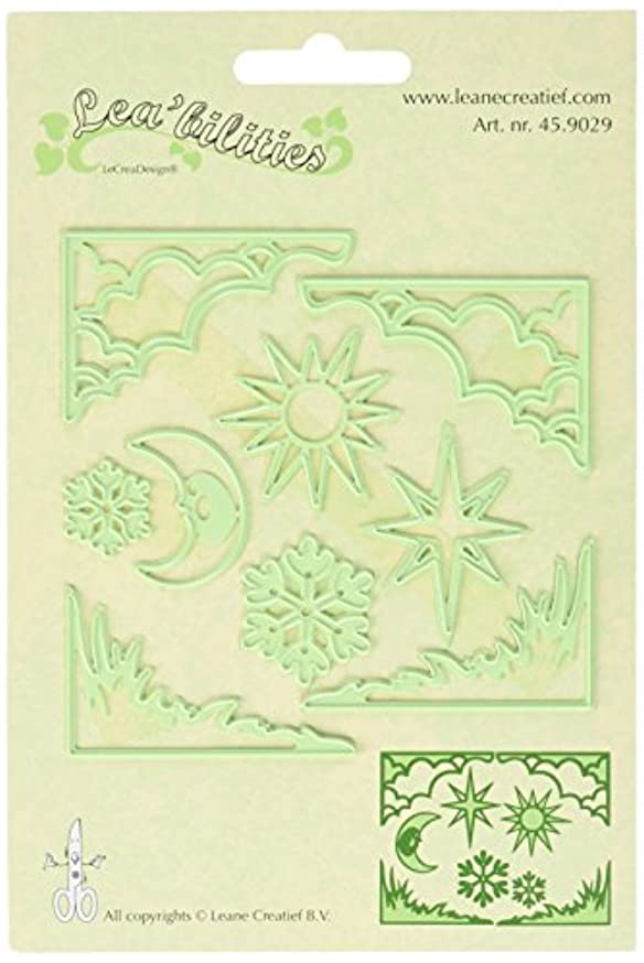 Ecstasy Crafts Lea'bilities Cut and Emboss Dies, 2-Inch, Sun and Moon