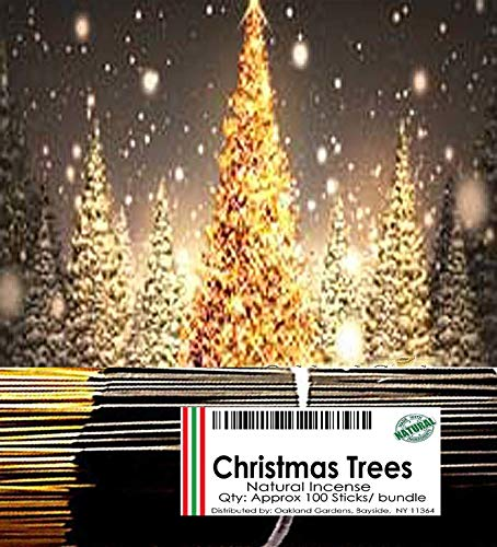 Oakland Gardens Premium Hand Dipped Incense Sticks, You Choose The Scent. 100 Sticks. Christmas Tree (Christmas Tree)