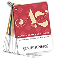 ABC Scripture Cards - Simple Bible Verse Flash Cards for Each Letter of the Alphabet (Scripture Memory Verses for Children and Adults)