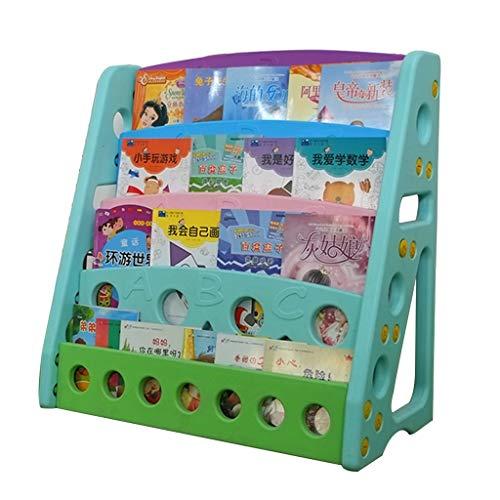 Bibliothèques Bibliothèque Pour Enfants Bibliothèque Simple Kids Home Bibliothèque En Plastique De Jardin D'enfants Rack De Stockage Meilleur Cadeau (Color : Blue, Size : 81.5x39.5x80cm)