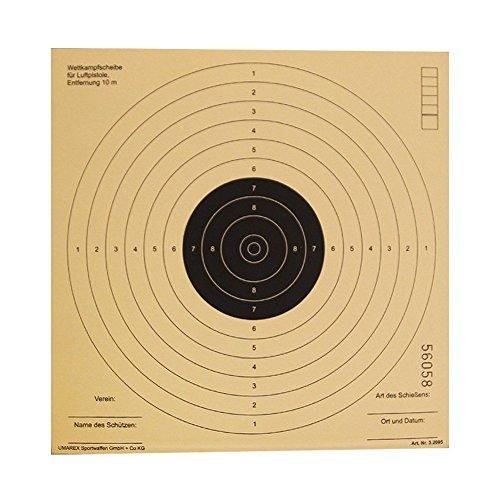 G8DS 100 Luftgewehrscheiben 17 x 17 cm/Zielscheiben für Luftgewehr Hohe Qualität