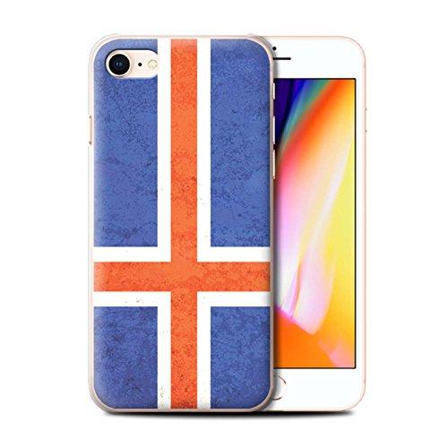 Telefoonhoesje voor Apple iPhone SE 2020 Vlaggen IJsland/IJslands Ontwerp Transparant Helder Ultra Slim Dun Hard Back Cover