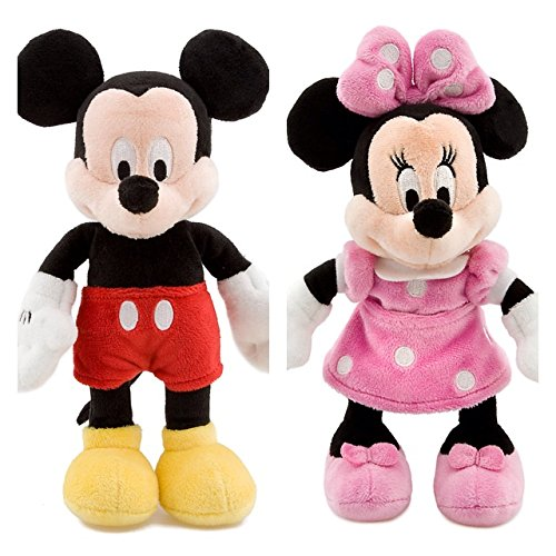 Disney MICKEY MOUSE e MINNIE Peluche Pequeño Set 20cm La