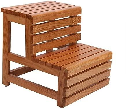 Wtbew-u Step Stools  Wooden Ladder Stairway Chair Steps Multi-function Household Climbing Ladder Racks