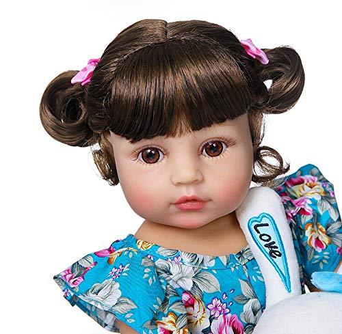 Muñeca de silicona suave y completa para nacer, muñeca recién nacida, regalo de Navidad, bonito y realista, juguete magnético de 55 cm