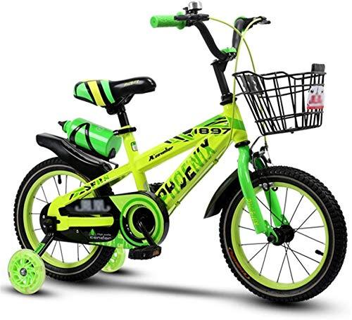 Bicicleta de carretera de la ciudad de cercanías, Bicicletas for niños preescolares Vespa cubierta de bicicleta de ejercicios for niños al aire libre 3 ~ 12 Años de Edad bicicletas Adecuado (Color: Ve
