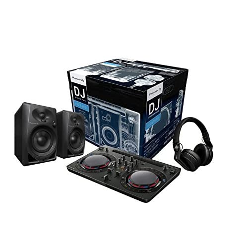 Pioneer DJ - Starter Kit per DJ (Incl. DDJ-WeGo4 nero, 2 X DM-40, HDJ-700 nero)