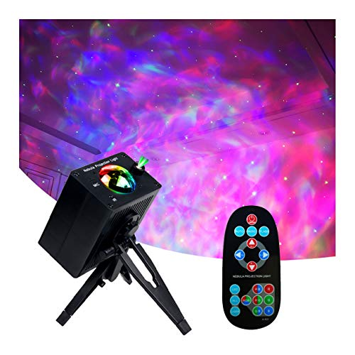 Star Projector,Lights for Bedroom,YeeSeeJee Night Light LED Ocean Wave Movable RGB 8 Lighting Modes with Remote and Music Voice Control,Star Light Projector for Bedroom/Home Theather/Party/KTV(Tripod)