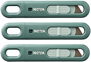 Nova Disposable Safety Knife, Utility Knife, Box Cutter, Fixed Compact Cut, Ambidextrous Feature, Ideal for Food Industry,...