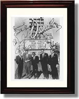 Framed Rat Pack Autograph Replica Print