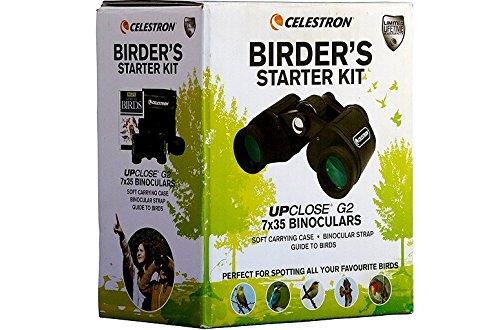 Celestron Upclose G2 7x35 Binocular with Birder's Book (Birder's Starter Kit)