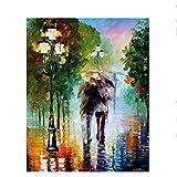 Fvfbd Dessiné à la Main Amazon Bricolage Toile Peinture par numéros Acrylique Abstrait Peinture à l'huile par numéros Photo sur Toile pour Mur Art Moderne sans Cadre 40x50cm