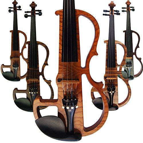 Aliyes Handmade professionale Silent professionale legno massello Student violino violino elettrico 4/4completo per principianti violino string kit, spalliera,...