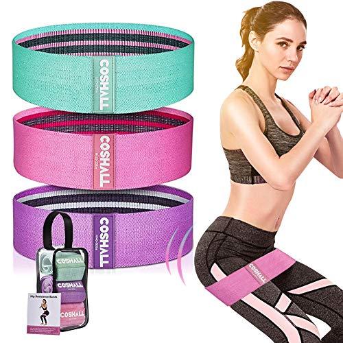 Fitnessband, Sportband Fitnessbänder Set, Loop Band Rutschfeste Yogaband Fitnessband 3 Zugkraftstärken Ideal für Hüften und Gesäß, Beine und Po Training, Krafttraining und Klimmzüge (3 Niveau)