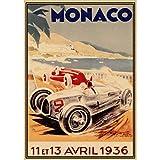 WYBFLF Leinwandplakat Monaco Grand Prix Jahrgang 2006 64.