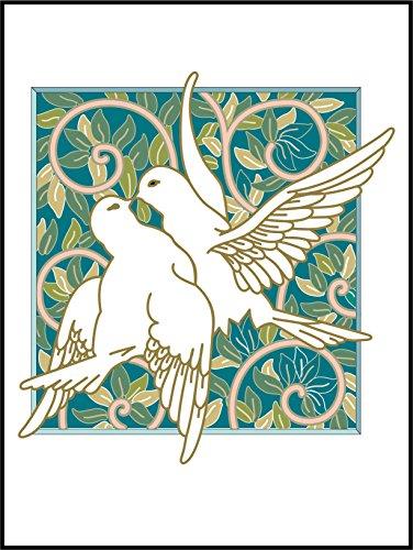 Fliesenaufkleber Fliesentattoos für Bad & Küche - NUR FÜR WEIßE FLIESEN - weißes Viereck als Hintergrund - Küchenfliesen für einzelne Fließen 20x25 cm - ME299 - Taube ficken