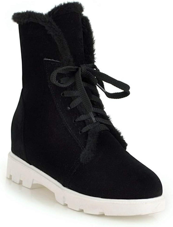 Stiefel  Damen Schnürstiefel Gre  Schneeschuhe Kurze Stiefel  runde Spitzen-Sandalen aus Spitze