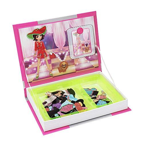 Laiashley Magnetbuch Puppen für Kleinkinder Kinder, für Kreativität Und Motorik - Buchförmige Reise- / Aufbewahrungskoffer