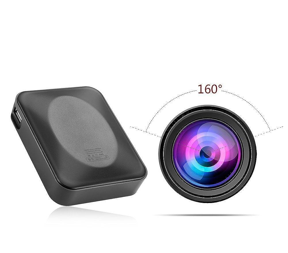 ただ心臓教育する1080P フル モバイルバッテリー型 スパイカメラ 電源型 隠しビデオカメラ 160°大広角 動体検知 防水機能 大容量 32GBまで対応 防犯監視カメラ