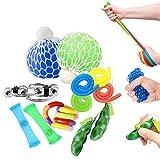 OKSANO Juguetes Sensoriales antiestres 12Pcs, Juguetes Autismo Fidget para niños y Adultos Fiddle Toys for ADHD, Pelota antiestres, Flippy Chain, Soybean Stress Toys, Tangle Toys Esperar
