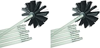 Deflecto Dryer Duct Cleaning Kit, Lint Remover, Extends Up to 12 Feet, Synthetic Brush Head, Use with or Without a Power Drill (Pack of 2)