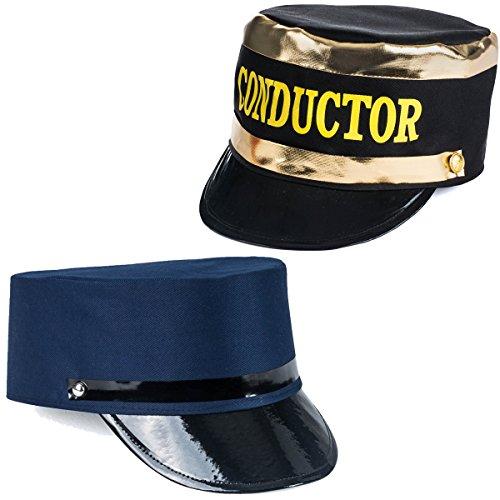 Tigerdoe Conductor Hat - Train Engineer Hats - Costume Hats - (2 Pack) Dress Up Hats
