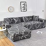 WXQY Funda de sofá elástica con Estampado Floral para Sala de Estar Funda Protectora para Silla de salón Funda de sofá a Prueba de Polvo Completa A21 1 Plaza
