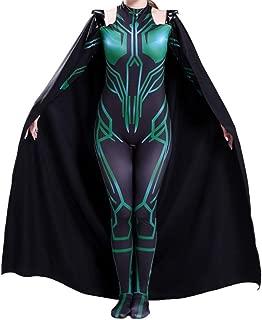 Halloween Audlt Hela Cosplay Costume Hela of Thor Ragnarok Bodysuit Jumpsuit