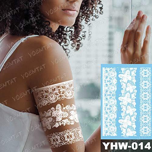 Adgkitb 3 Piezas Temporal Impermeable Tatuaje Pegatina