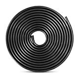Tuokay 32.8ft 10m TPO Rubber Car Door Protectors, Edge Protection Strip, Door Edge Trim (Black)