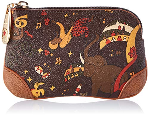 piero guidi Cosmetic Bag, Pochette da Giorno Donna, (Marrone), 13x5x2 cm (W x H x L)