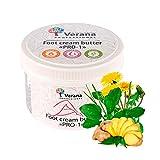 Crema de mantequilla ecológica natural para piernas Verana Professional | PRO-1 | para todos los tipos de piel | para rejuvenecimiento y recuperación, cuidado de la piel para pies, talones, dedos