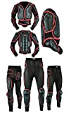 Men's Motorbike Motorcycle Full Spine Body Armour Protection Motocross Protective Guard Jacket Wear & Protective Biker Trouser Suit Waist - 30' to 33'/Chest -30' to 36'- S/M