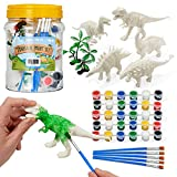 THE TWIDDLERS 15 Piezas Pinte Su Kit de Dinosaurio - Incluye Pintura y Pinceles