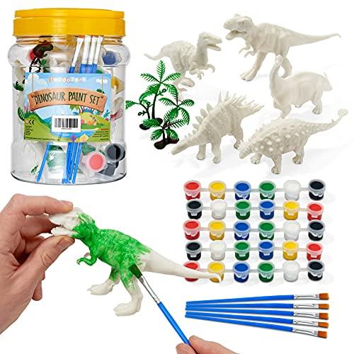THE TWIDDLERS - Juego de 15 Piezas Pinte Su Kit de Dinosaurio/Dinosaurios...
