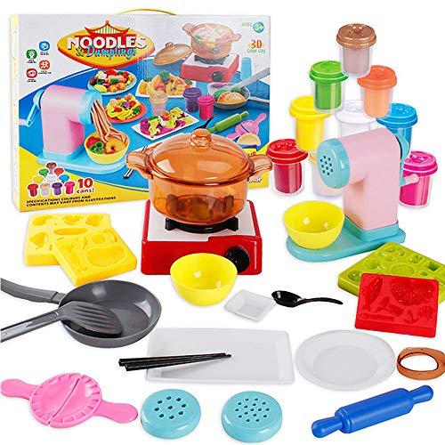 Kinderen Color Clay Toys, 10 Flessen Kleur Mud Combinatie Luxury Suit, Handgemaakt Speelgoed, Noodle Machine Dumplings Maken, 3-6 Jaar Oud Speelgoed Voor Kinderen