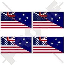USA United States of America & AUSTRALIA American-Australian Flag 2