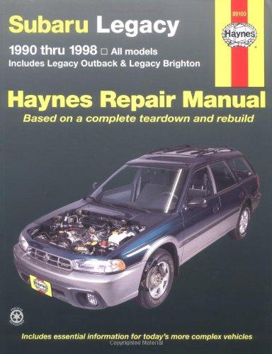 Subaru Legacy, 1990-1998: Includes Legacy Outback and Legacy Brighton (Haynes Manuals)