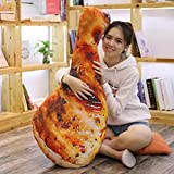 HitHopKing 3D Chicken Leg Pillow Plush Toy Creative 3D Simulation Fried Chicken Baby Stuffed Toy Soft Plush Toy (2#, 55CM/22 inch)