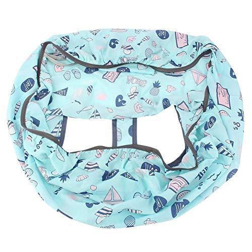 Cubierta del Carro de Compras - Carro de Compras portátil Cubierta de la Silla Trolley Soft Pad Cubierta del Asiento del bebé (Azul)